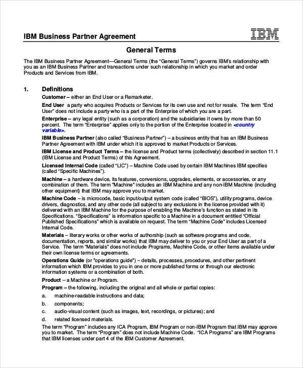47+ Business Agreement Examples