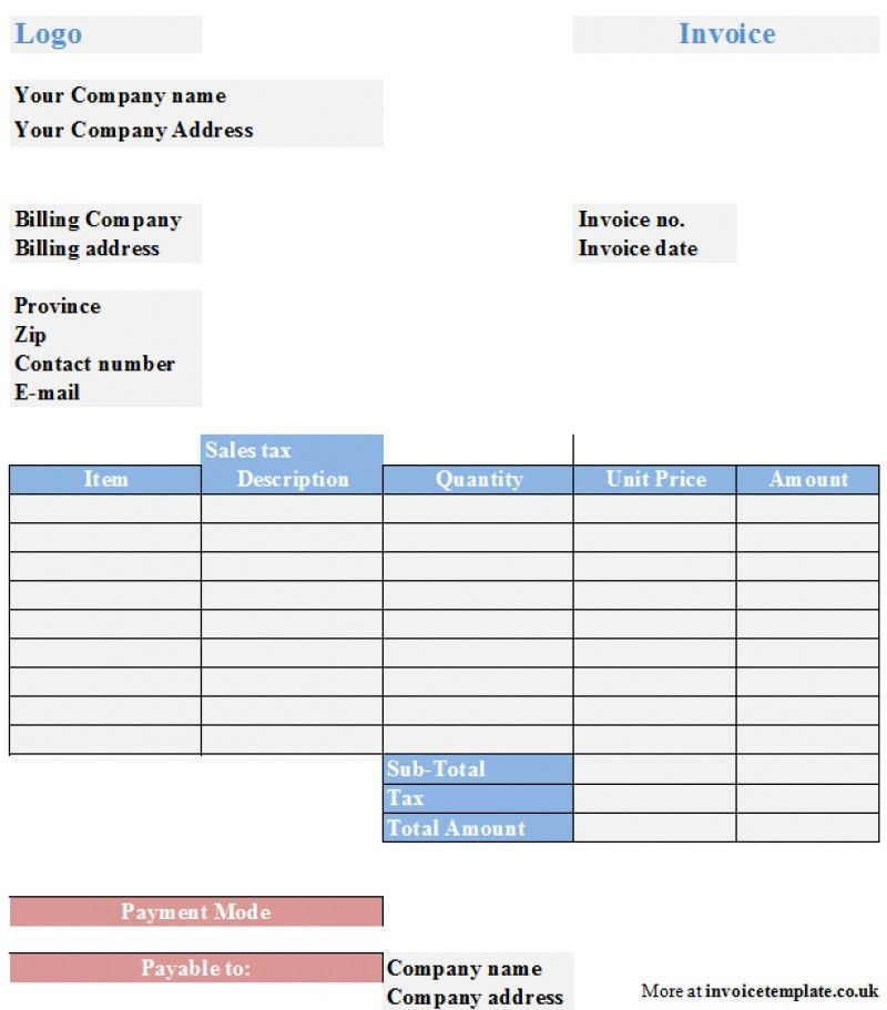 Childminder Invoice Template Uk | rabitah.net