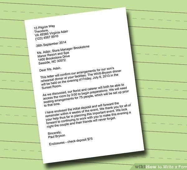 How To Write A Formal Letter (With 3 Sample Letters) – Wikihow ...