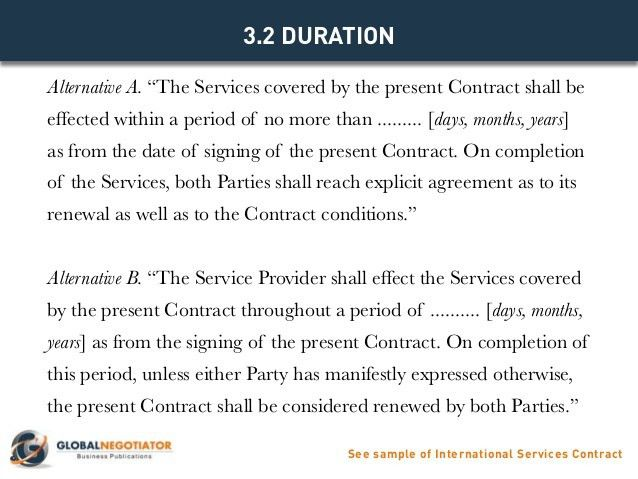 INTERNATIONAL SERVICES CONTRACT - Contract Template and Sample
