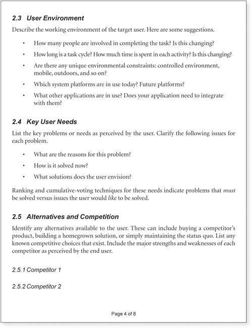 Appendix B. Vision Document Template - Agile Software Requirements ...