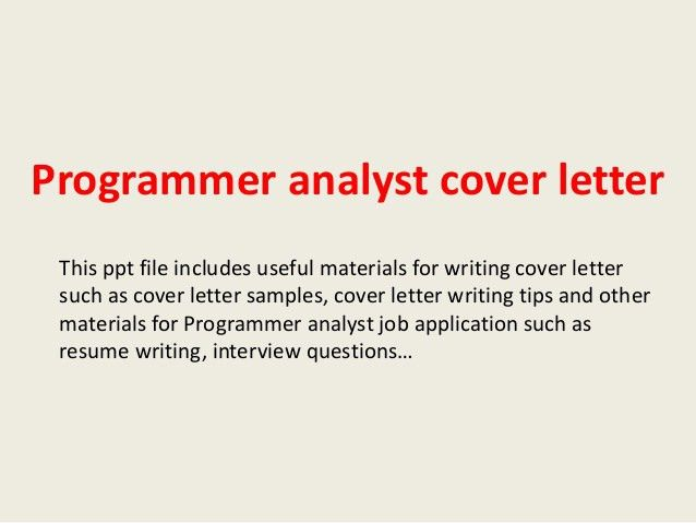 Web Analyst Cover Letter