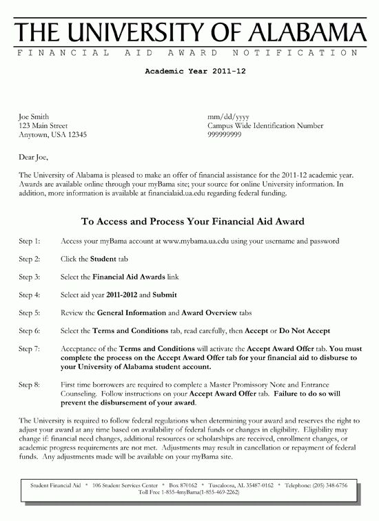 8+ financial aid appeal letter samples - LetterHead Template Sample