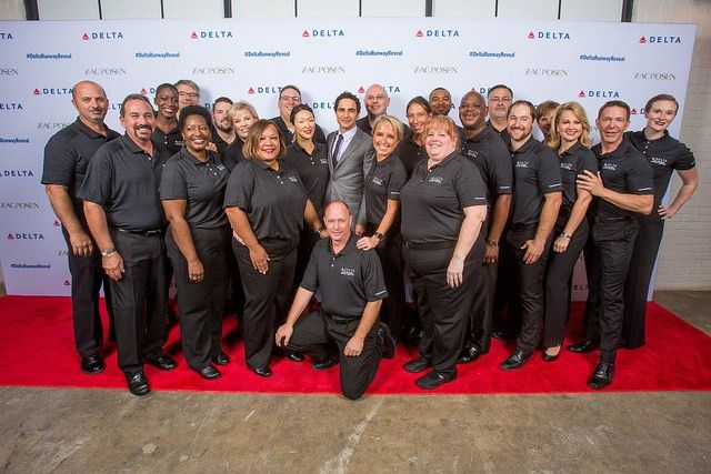 High-flying fashion: Uniforms unveiled in exclusive event | Delta ...
