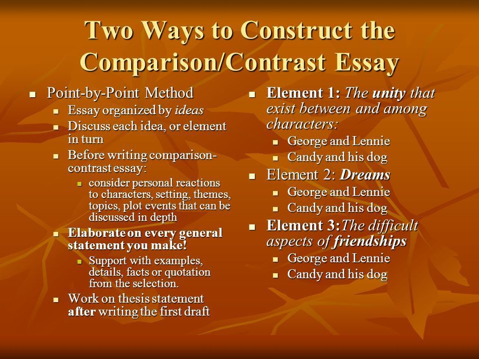 Writing a Comparison- Contrast Essay Discussing similarities ...