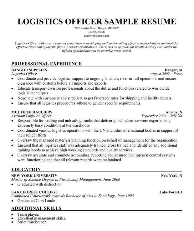 Superior Logistics Coordinator Job Description. 19 Best Resume Images On ..