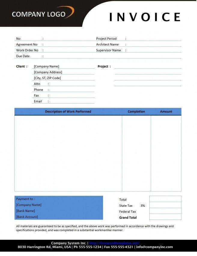 Download General Contractor Invoice Template Free | rabitah.net
