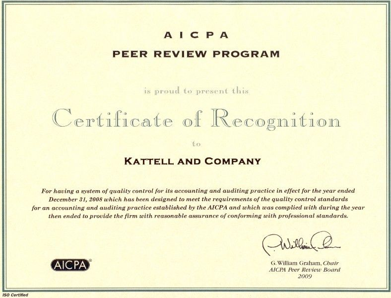 Kattell and Company, P.L. : Peer Review