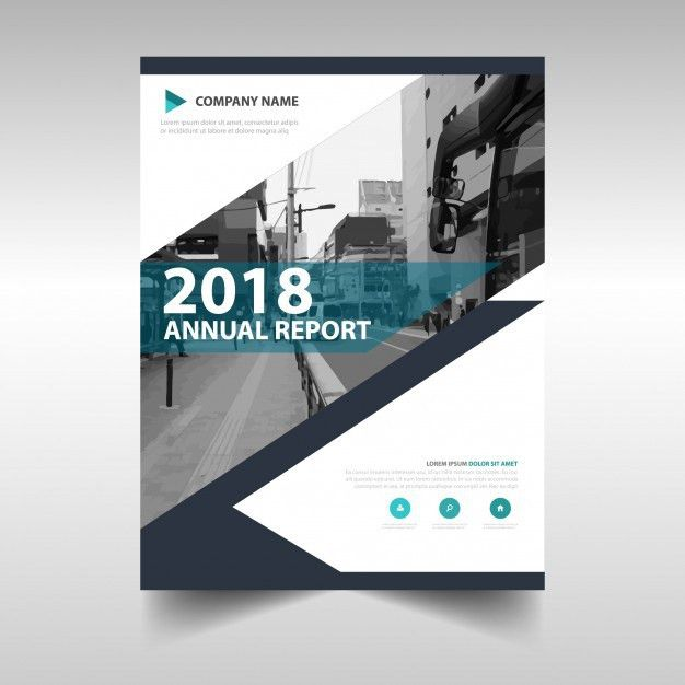 Creative annual report book cover template Vector | Free Download