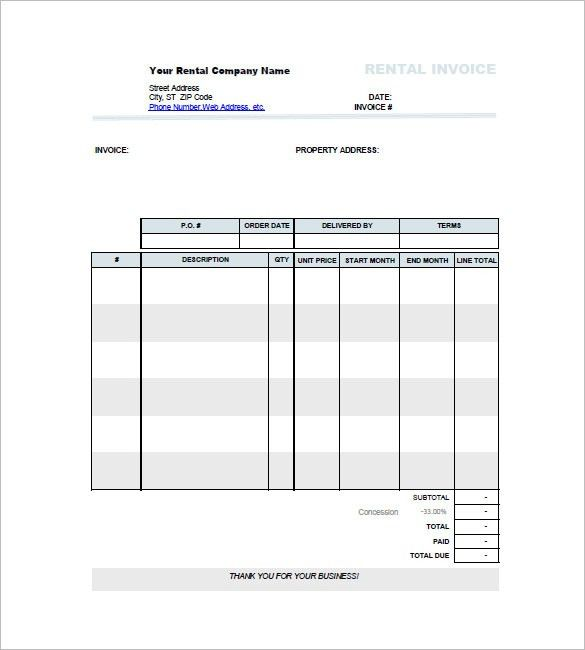 Car Invoice Template – 8+ Free Sample, Example, Format Download ...
