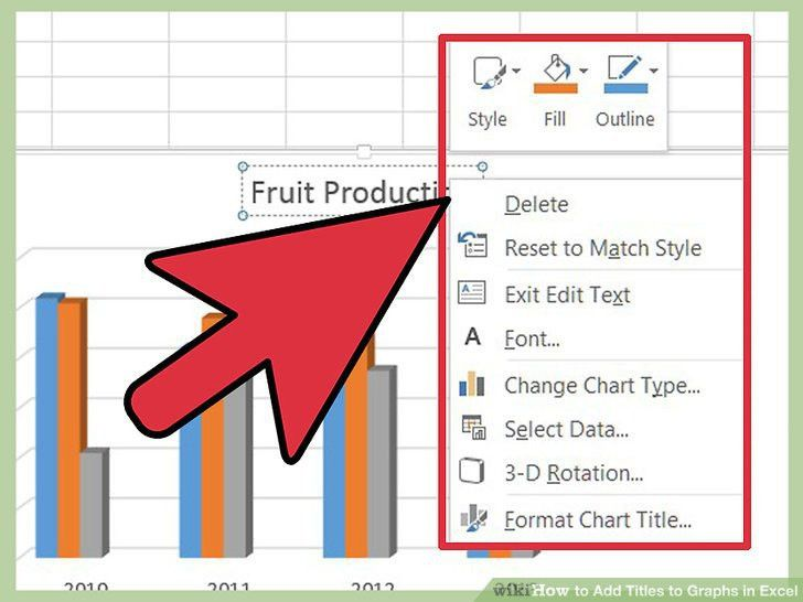 How to Add Titles to Graphs in Excel: 8 Steps (with Pictures)