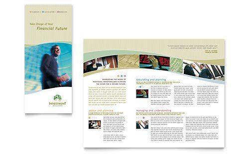 Financial Services | Tri Fold Brochure Templates