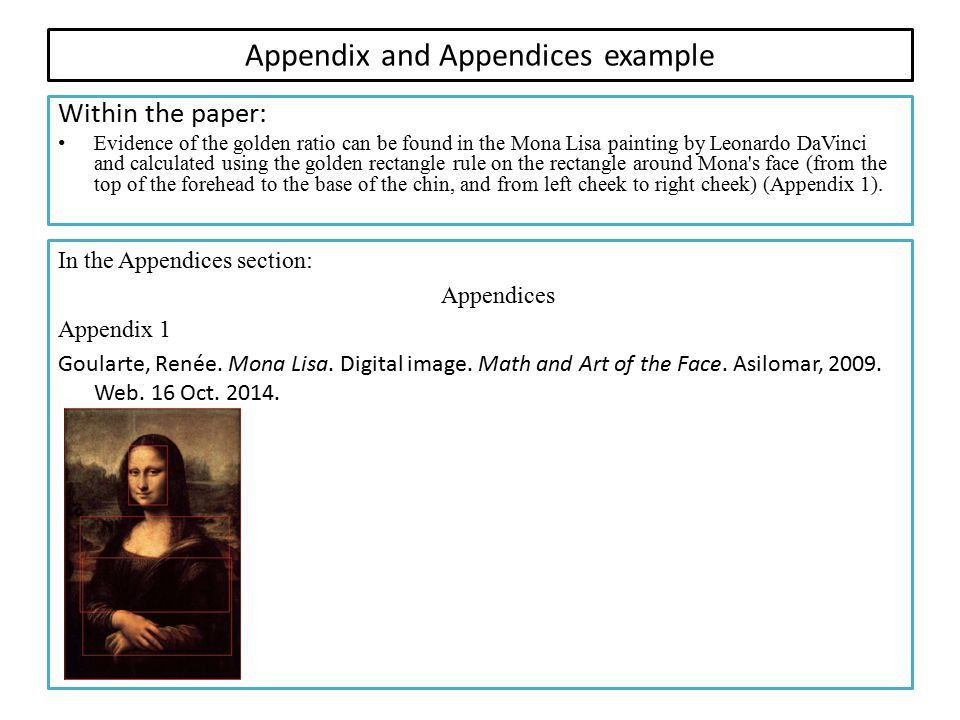 from Title Page to Appendix and Works Cited - ppt video online ...