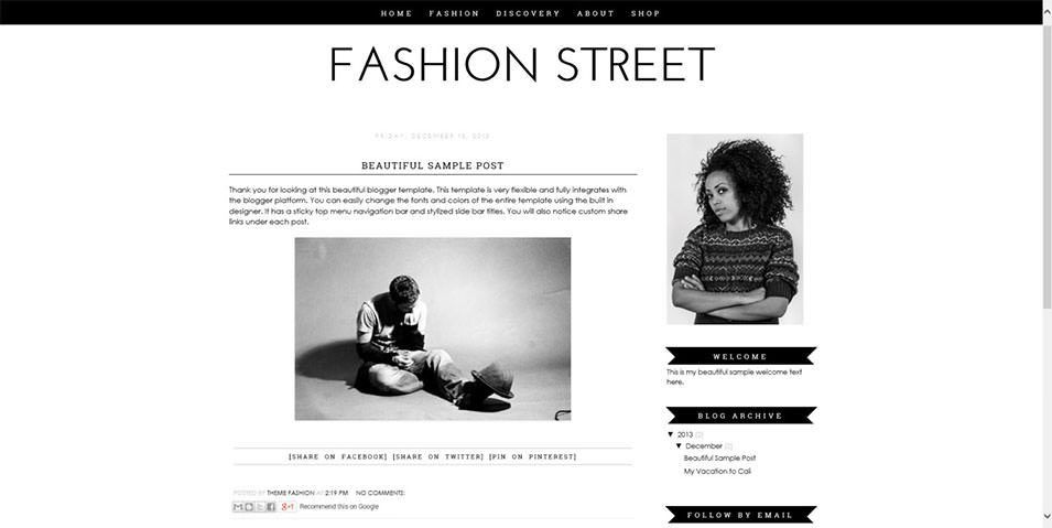 Fashion Blog Website Templates & Themes | Free & Premium | Free ...