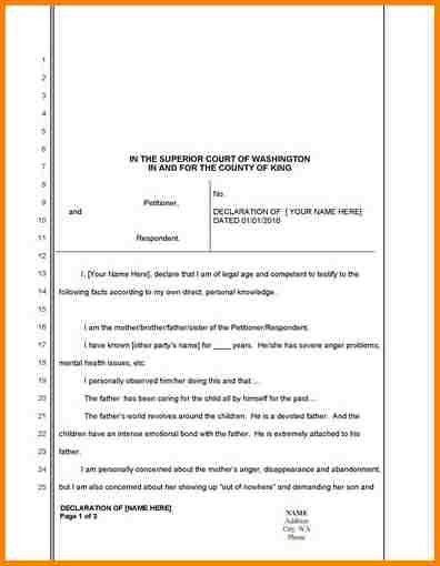 child custody letter template template. notarized letter template ...