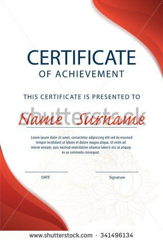Horizontal Certificate Template Diploma Vector Stock Vector ...