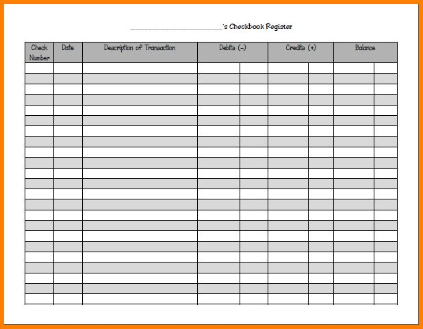 3+ check register template | resume reference