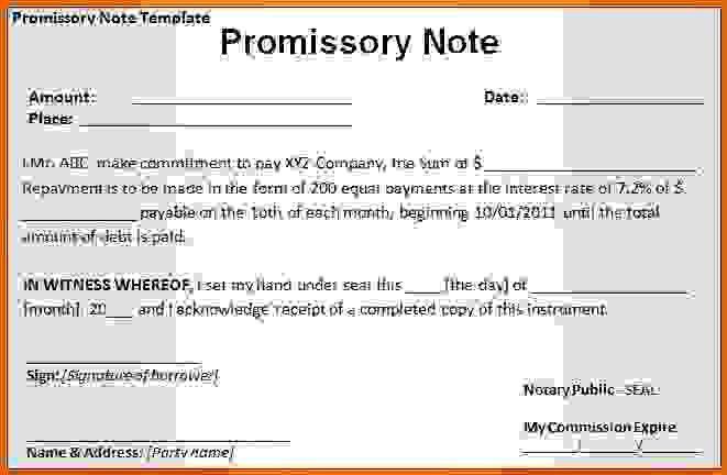 free promissory note template wordReference Letters Words ...