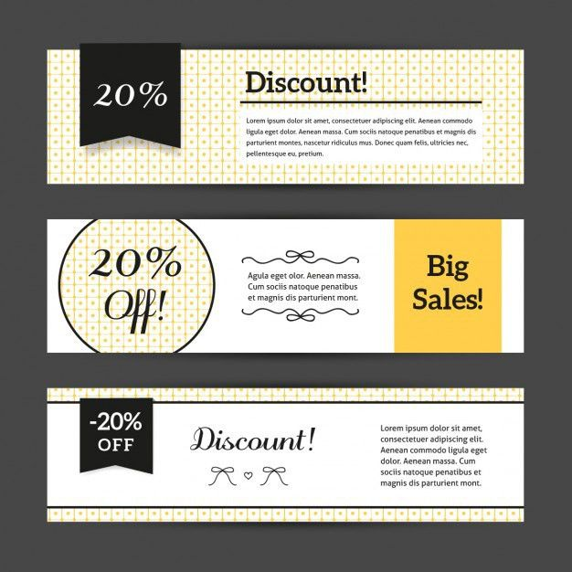 Discount voucher templates with cute pattern collection Vector ...