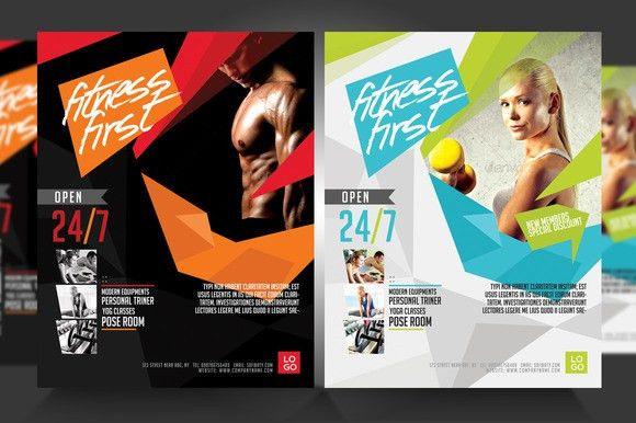 Template - Fitness Flyer Gym Flyer V3 » Logotire.com