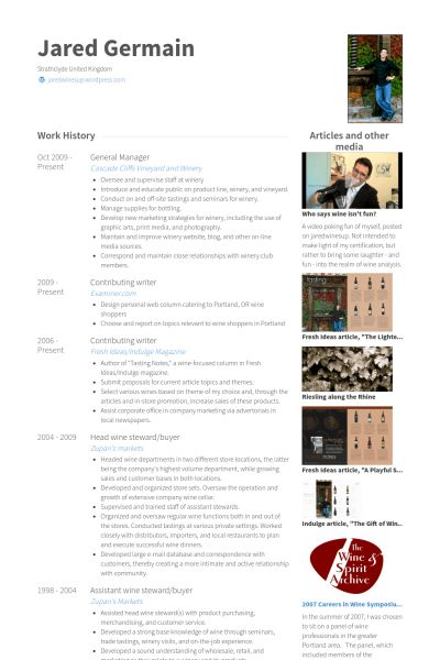 General Manager Resume samples - VisualCV resume samples database