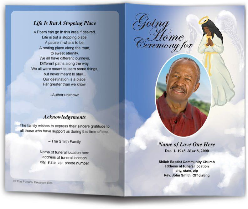 Christian Funeral Templates |Printable Funeral Program Templates