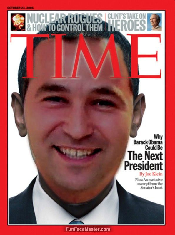 time - Use Obama Magazine Template- Put your face in fun photo