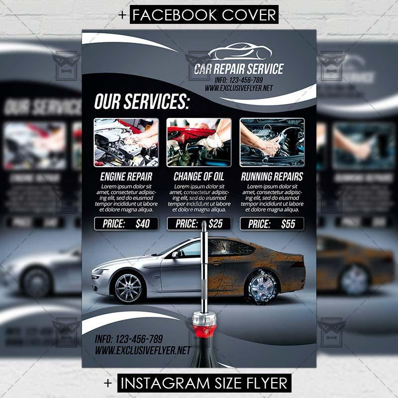 Car Repair – Premium Flyer Template | ExclsiveFlyer | Free and ...