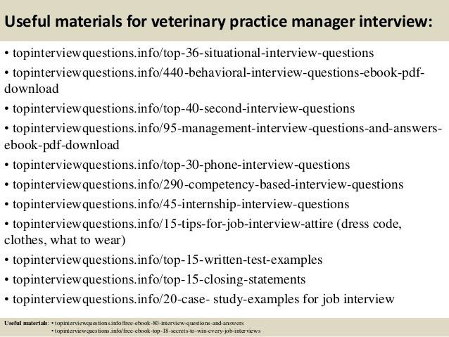 Top 10 veterinary practice manager interview questions and answers