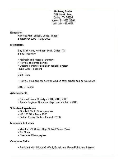 Resume Examples. Resume Templates for Kids Downloads Microsoft ...