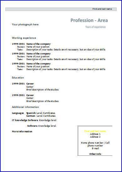 CV templates: Design 4 | Resume templates