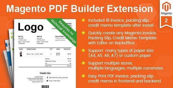 Magento Pdf Invoice, Packing Slip, Credit Memo Template Builder ...