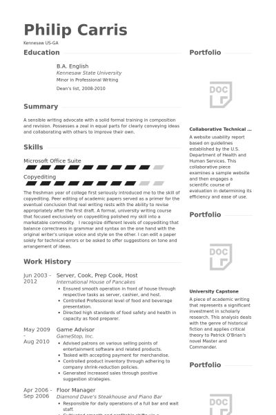 Prep Cook Resume samples - VisualCV resume samples database