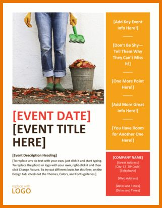 Microsoft Templates Flyer.Autumn Seasonal Event Flyer Template For ...