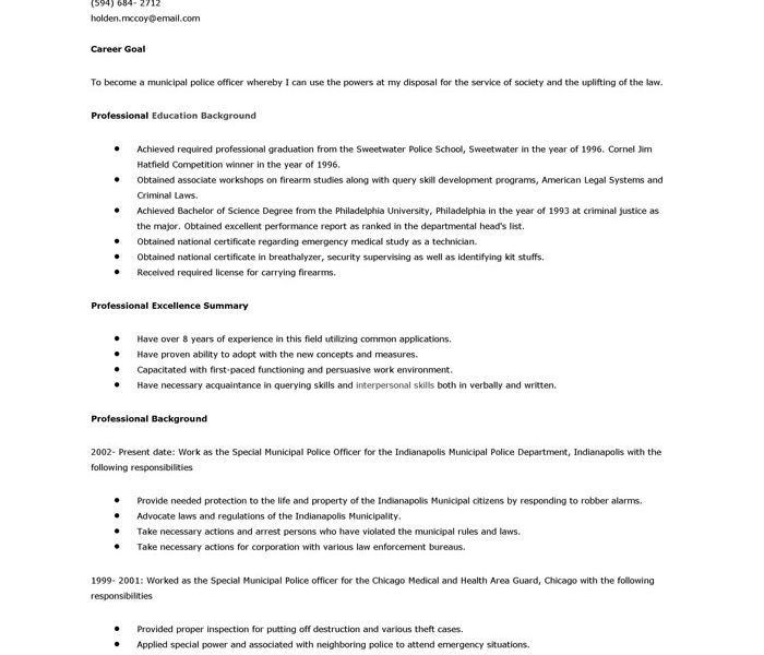 Fashionable Design Police Officer Resume Example 13 Police ...