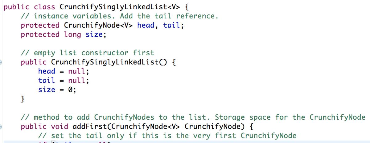 A Simple Singly Linked List Implementation in Java • Crunchify