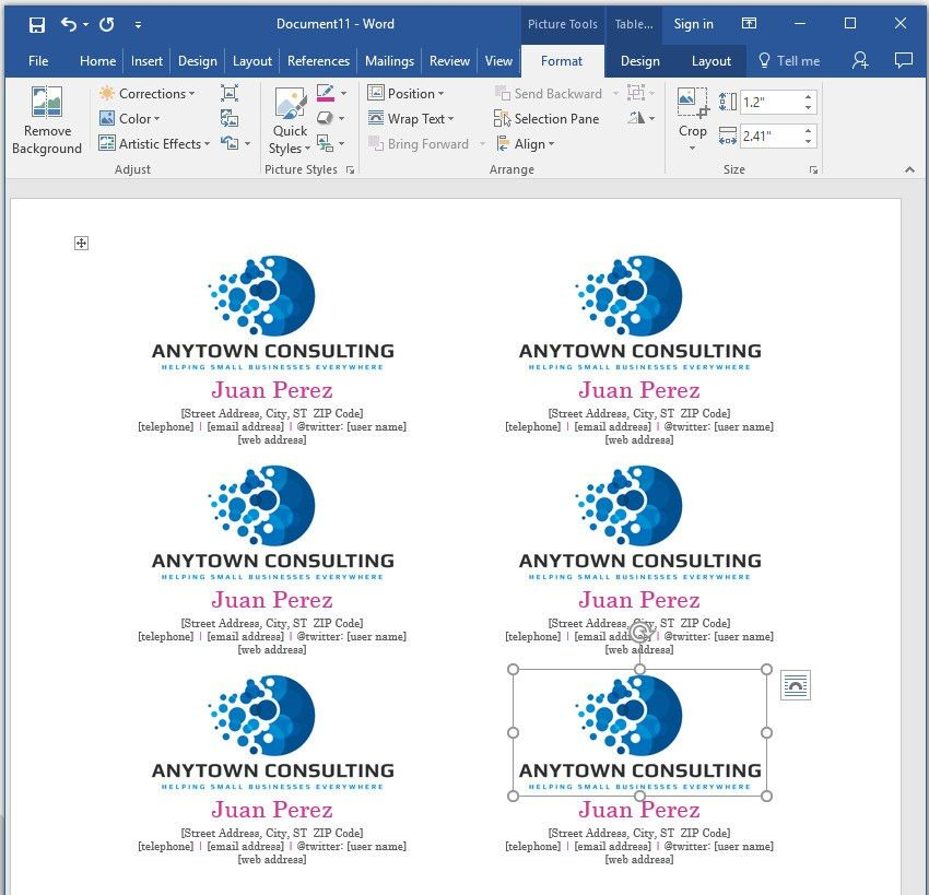How to Make Your Own Business Cards in Word