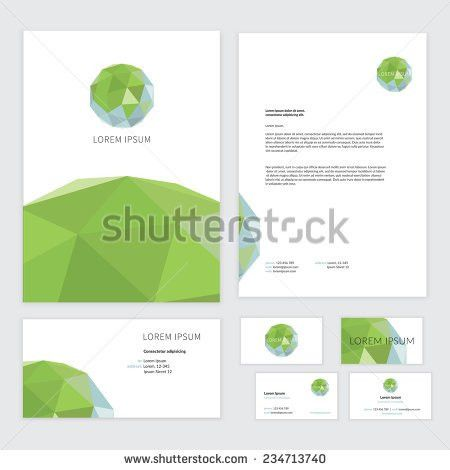 Spring Flyers Template Design Green Leaves Stock Vector 522481747 ...