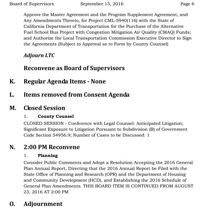 Mariposa County Board of Supervisors Meeting Agenda for Tuesday ...