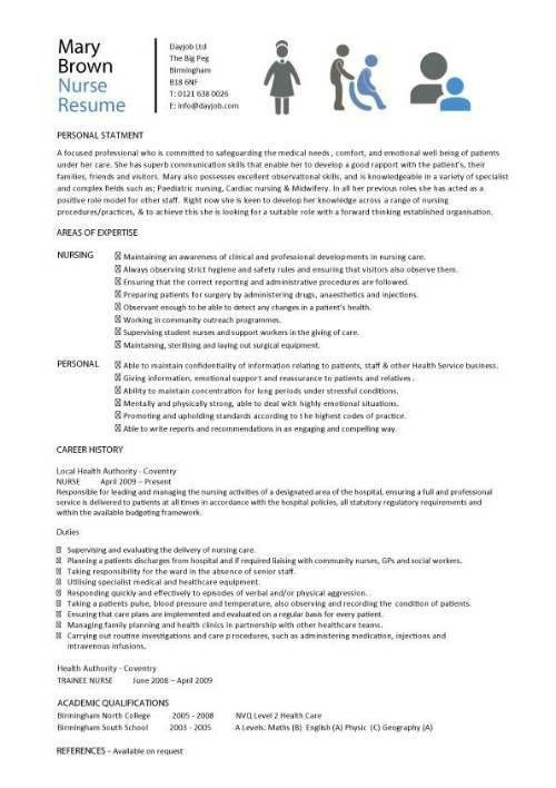 Nursing Student Resume Template