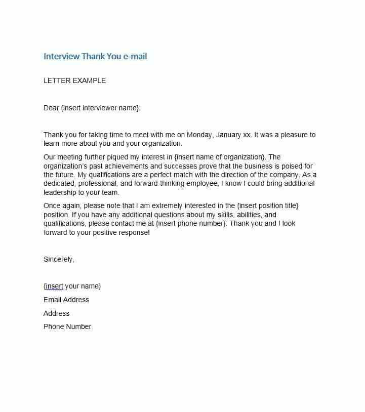 40 Thank You Email After Interview Templates - Template Lab