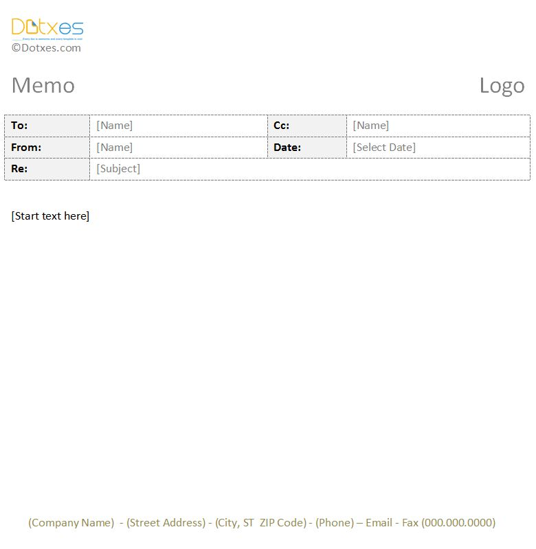 Business Memo Template (1.1) - Dotxes