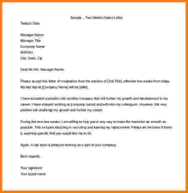 9+ example of two weeks notice | Card Authorization 2017