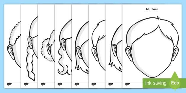 Faces Templates - Printable Face Template