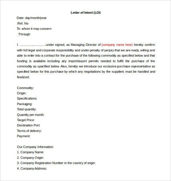 Free Intent Letter Template – 20+ Free Word, PDF Documents ...