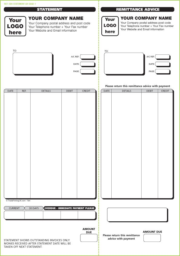 FREE Sage Invoice Templates | Custom Printed SAGE Invoices