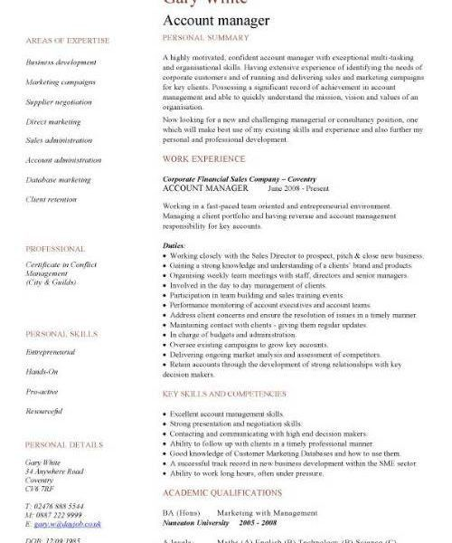 Vibrant Design Manager Resume Sample 8 Management CV Template ...