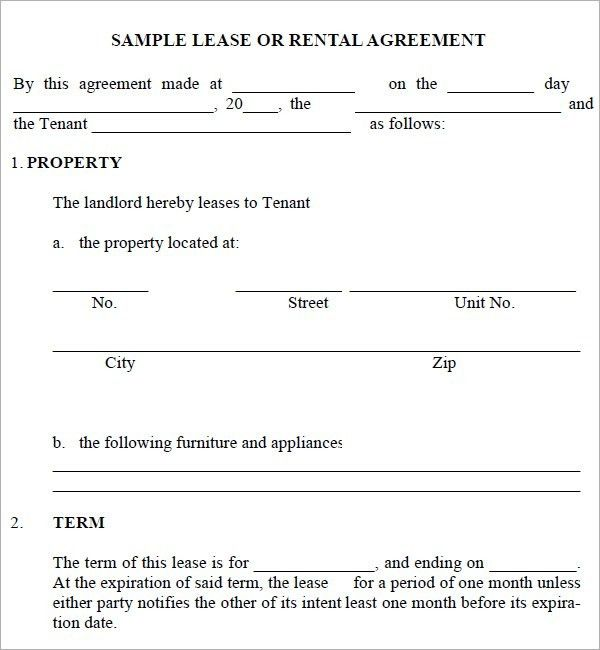 Rental Agreement Templates – Word Excel PDF – Get Calendar Templates