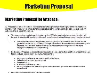 11 Best Images of Marketing Proposal Format - Marketing Proposal ...