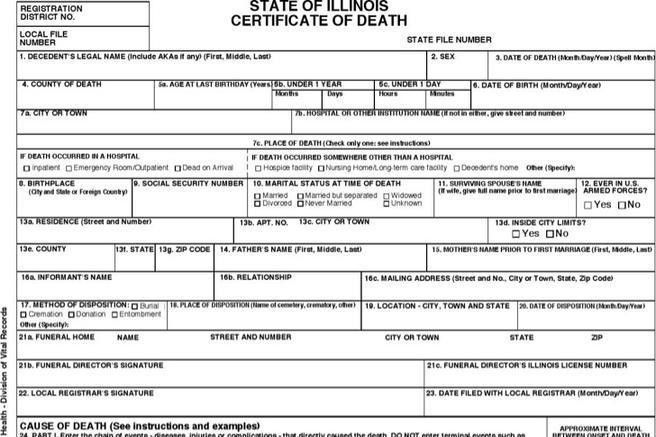 Death Certificate Template. Certificate Or Diploma Template With ...